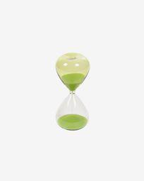 Ampulheta Breshna vidro verde 14 cm