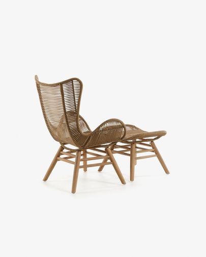 Zabel Sessel mit Fußstütze, beige
