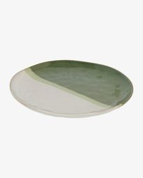 White and green Naara flat plate
