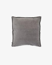 Fodera per cuscino Wilma 45 x 45 cm velluto a coste grigio