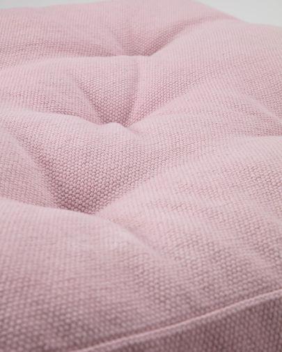 Sarit 100% cotton pink floor cushion 60 x 60 cm
