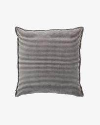 Fodera per cuscino Wilma 60 x 60 cm velluto a coste grigio