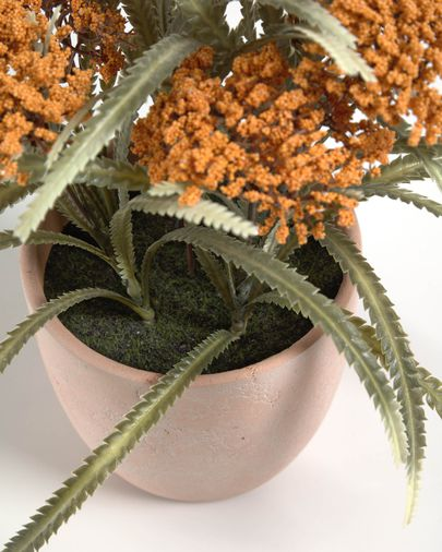 Leonitis Leonurus artificial plant in ceramic pot