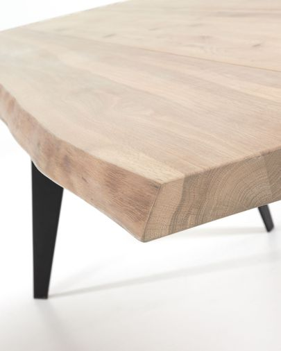 Tavolo Koda 180 cm rovere sbiancato gambe nero