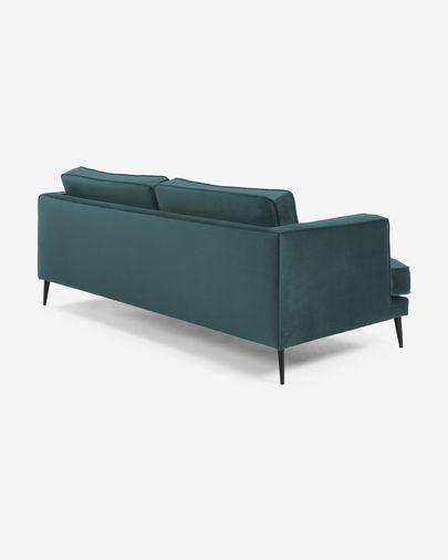 Turquoise velvet 2-seater Tanya sofa 183 cm