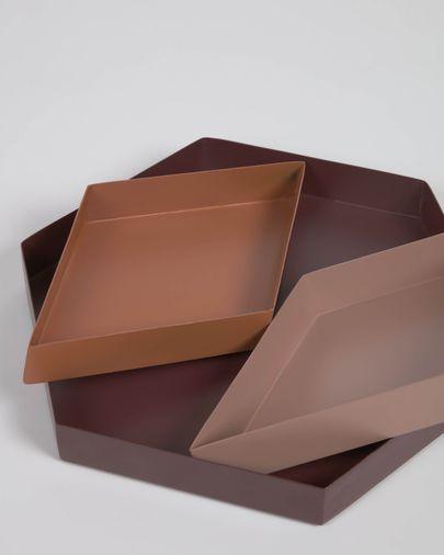 Set Elides de 3 bandejas de metal multicolor