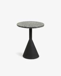 Black Delano side table Ø 40 cm