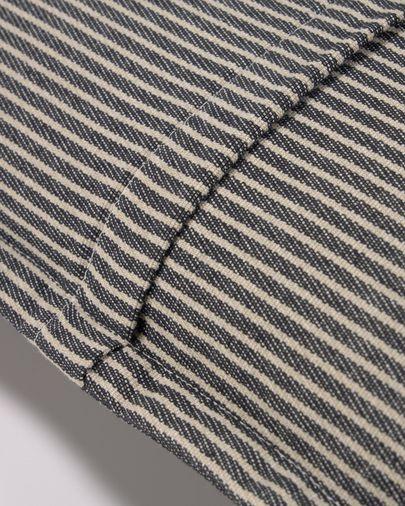 Aleria Kissenbezug aus Baumwolle mit weißen und grauen Streifen 60 x 60 cm
