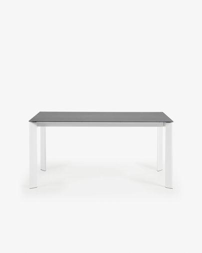 Mesa extensível Axis 160 (220) cm porcelânico Vulcano Roca pernas branco