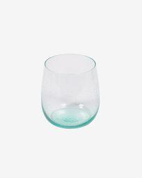 Hanie transparent and blue glass