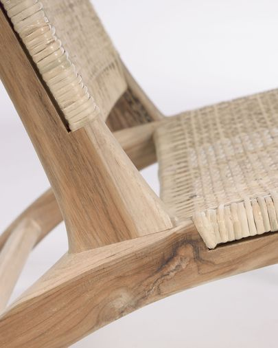 Butaca Beida fusta massissa teca