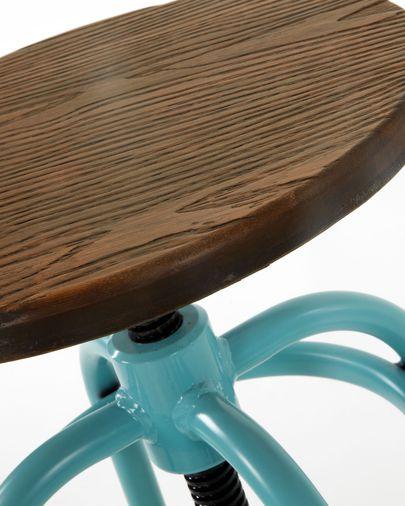 Sgabello Malira turchese altezza 66-84 cm