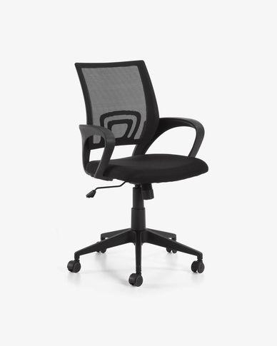 Cadira d'oficina Rail negre