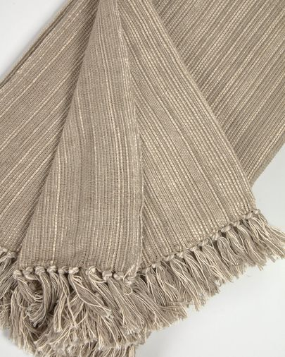 Manta Ami 100% algodón marrón 130 x 170 cm