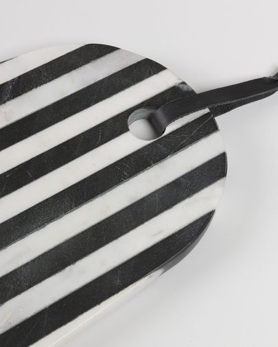 Planche à découper Bergman marbre noir blanc