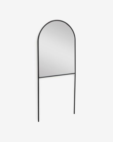 Specchio da terra Nazara in metallo nero 70 x 161 cm