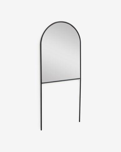 Miroir sur pied Nazara métal noir 70 x 161 cm