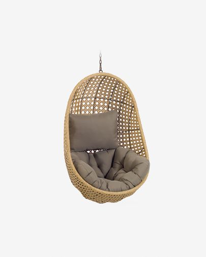 Cira hanging chair with natural finish