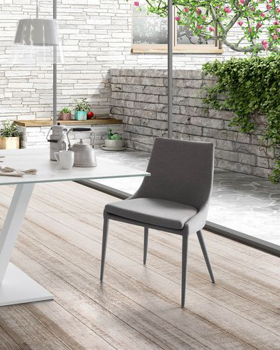 Davi chair dark grey