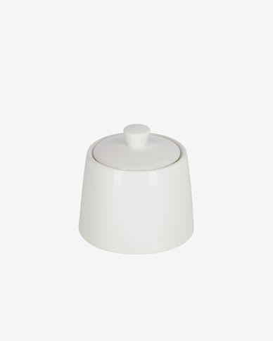Zuccheriera Pierina in porcellana bianca