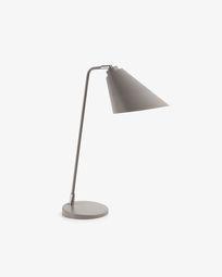 Lámpara de sobremesa Tipir de acero con acabado gris