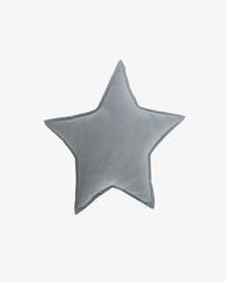 Noor blue star 100% cotton cushion 44 x 30 cm