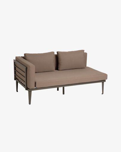 Pascale 2-Sitzer Sofa aus Aluminium mit grauem Finish 161 cm
