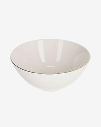 Taça grande Taisia de porcelana branco