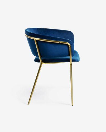 Runnie blue velvet chair