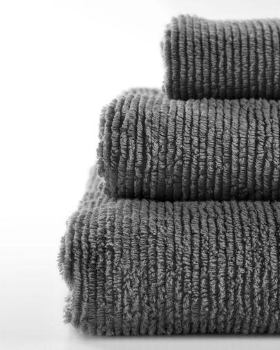 Toalla de manos Miekki gris oscuro