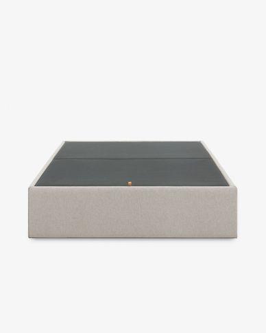 Base letto con contenitore Matter 180 x 200 cm beige