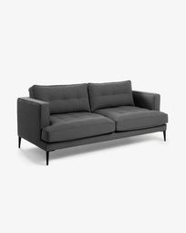 Dark grey 2-seater Tanya sofa 183 cm