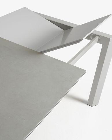 Axis uitschuifbare tafel 120 (180) cm porselein afwerking Hydra-draad grijs benen