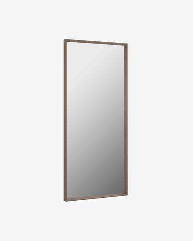 Espejo Yvaine 80 x 180 cm con acabado nogal