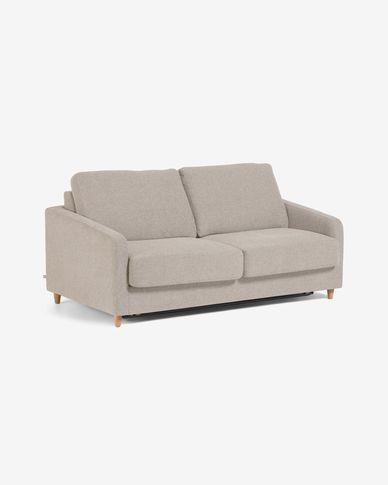 Sofá-cama Celene bege de 168 cm