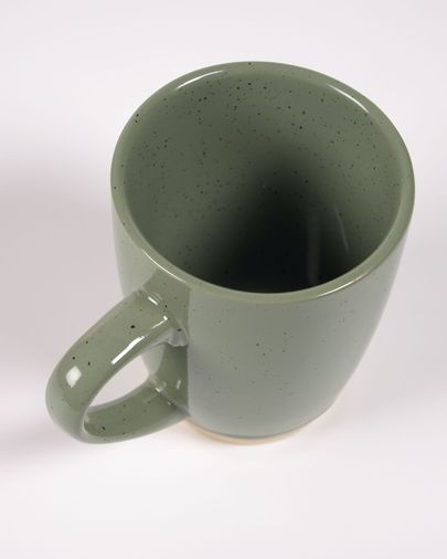 Donkergroene keramische kop Tilla