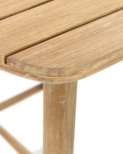 Mesa alta Sheryl de madeira maciça de eucalipto 75 x 75 cm FSC 100%