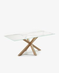 Argo table 200 cm porcelain wooden effect legs