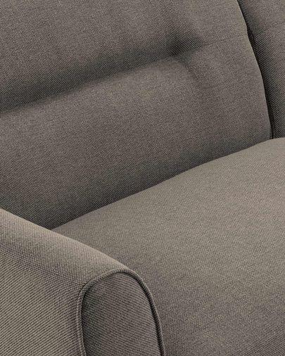 Light grey three-seater Oksana sofa 215 cm