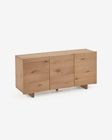 Rasha sideboard with oak veneer with natural finish 150 x 71 cm