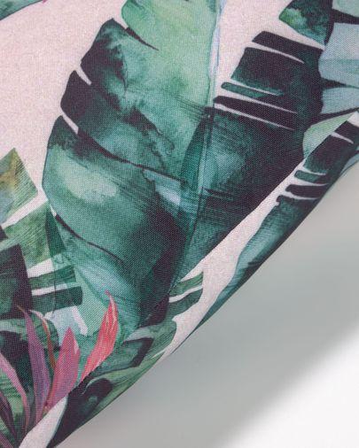 Hermie kussenhoes groene bladeren 45 x 45 cm
