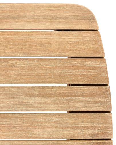 Taula Sheryl fusta massissa eucaliptus 90 x 90 cm