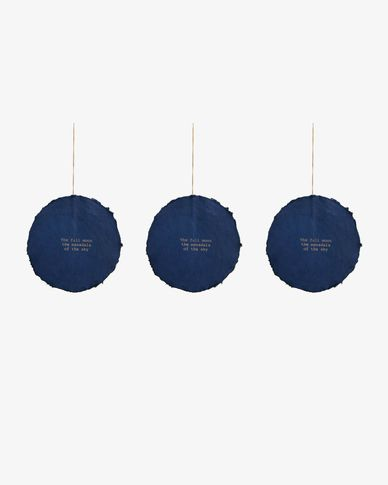 Set Astrea de 3 adorns penjolls decoratius blau