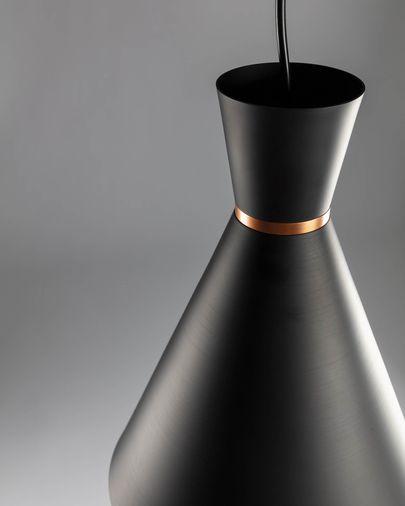 Lámpara de techo Vesta de acero con acabado negro