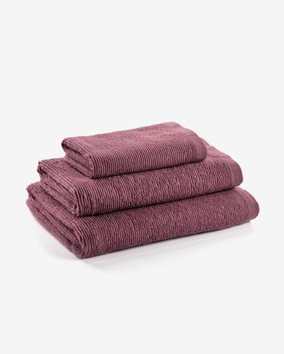Miekki large bath towel burgundy