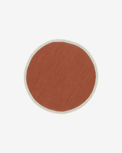 Cuscino rotondo per sedia Prisca terracotta Ø 35 cm
