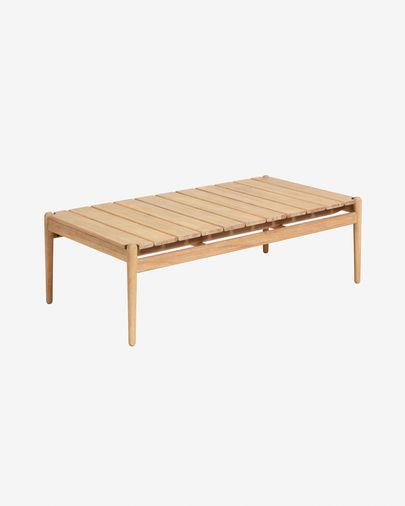 Mesa de centro Simja 117 x 60 cm madera maciza de eucalipto