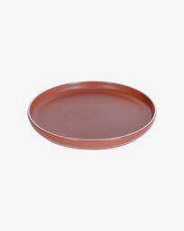 Roperta porcelain dinner plate in terracotta
