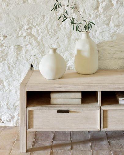 Mueble de TV Alen madera maciza acacia 165 x 50 cm