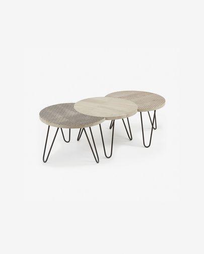Set Houp de 3 mesas 134 x 39,5 cm
